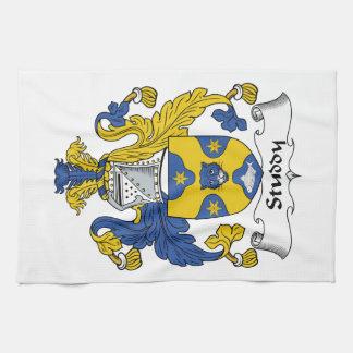 Escudo de la familia del estudio toallas de cocina