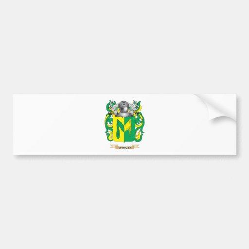 Escudo de la familia del extremo (escudo de armas) etiqueta de parachoque