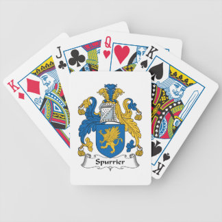 Escudo de la familia del fabricante de espuelas barajas de cartas
