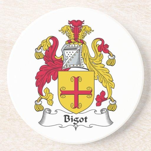 Escudo de la familia del fanático posavasos cerveza