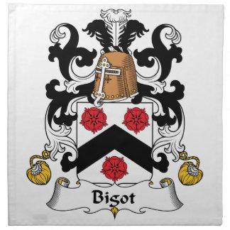 Escudo de la familia del fanático servilletas