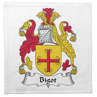 Escudo de la familia del fanático servilletas de papel