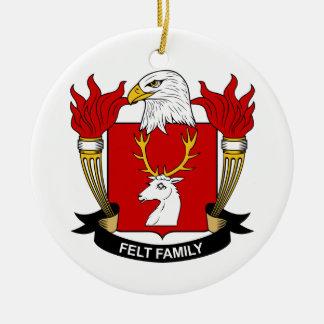 Escudo de la familia del fieltro adorno redondo de cerámica