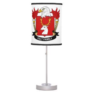 Escudo de la familia del fieltro lámpara de mesilla de noche