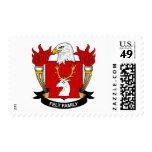 Escudo de la familia del fieltro sellos