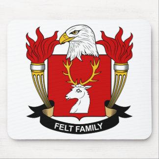 Escudo de la familia del fieltro tapetes de ratón