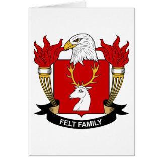 Escudo de la familia del fieltro tarjeta de felicitación