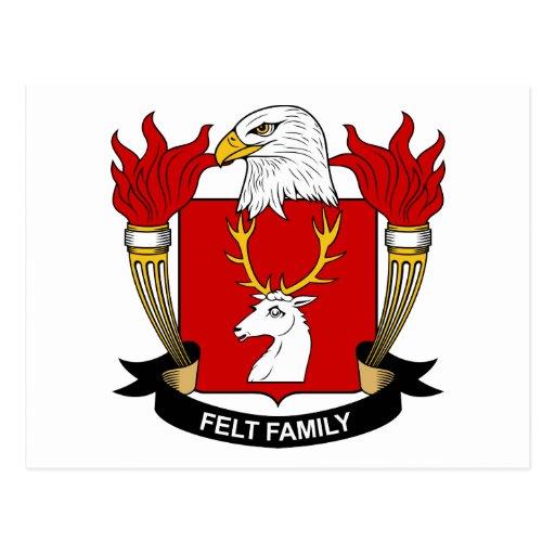 Escudo de la familia del fieltro tarjetas postales