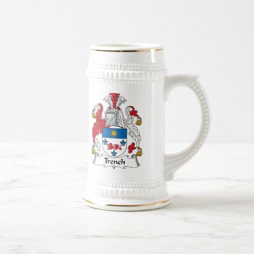 Escudo de la familia del foso jarra de cerveza