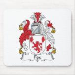 Escudo de la familia del Fox Alfombrillas De Ratón