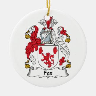 Escudo de la familia del Fox Adorno Redondo De Cerámica