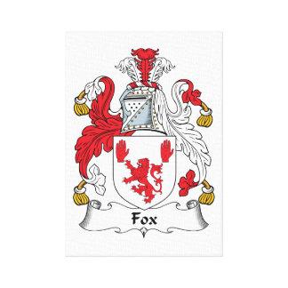 Escudo de la familia del Fox Impresión En Lona Estirada