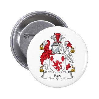 Escudo de la familia del Fox Pin Redondo 5 Cm