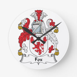 Escudo de la familia del Fox Reloj Redondo Mediano