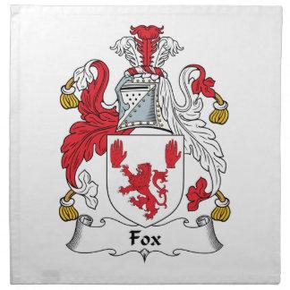 Escudo de la familia del Fox Servilletas