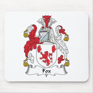 Escudo de la familia del Fox Tapete De Ratón