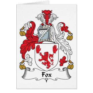 Escudo de la familia del Fox Tarjeta De Felicitación