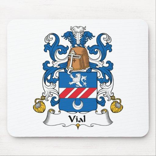 Escudo de la familia del frasco tapete de raton