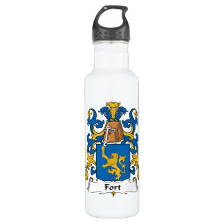 Escudo de la familia del fuerte botella de agua de acero inoxidable