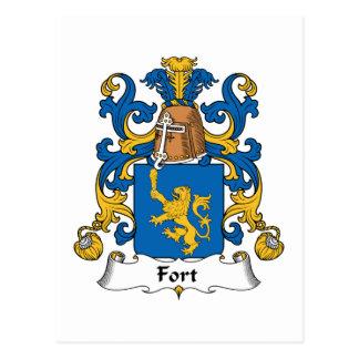 Escudo de la familia del fuerte postal
