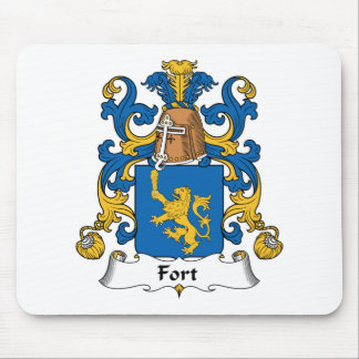 Escudo de la familia del fuerte tapetes de ratón