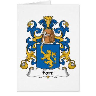 Escudo de la familia del fuerte tarjeta de felicitación