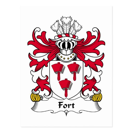 Escudo de la familia del fuerte tarjetas postales