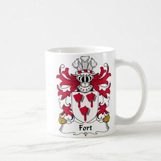 Escudo de la familia del fuerte taza de café
