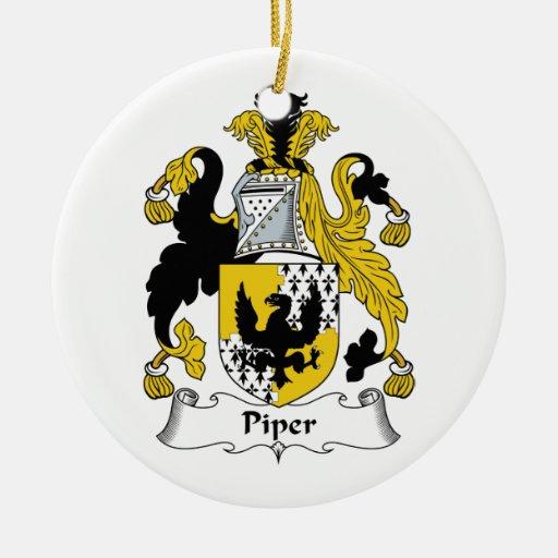Escudo de la familia del gaitero ornamento para arbol de navidad