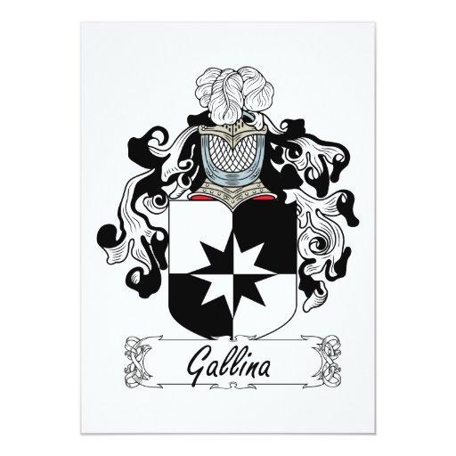 Escudo de la familia del Gallina Invitación