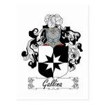 Escudo de la familia del Gallina Tarjetas Postales