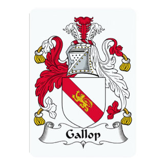 Escudo de la familia del galope invitaciones personales
