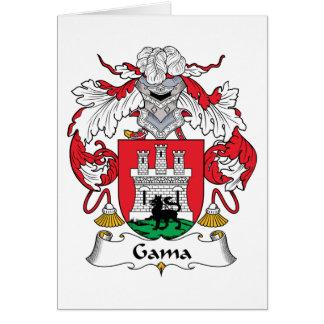 Escudo de la familia del Gama Tarjeta De Felicitación