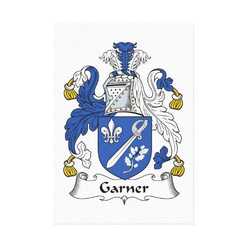 Escudo de la familia del Garner Impresiones En Lienzo Estiradas