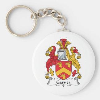 Escudo de la familia del Garner Llavero Redondo Tipo Pin
