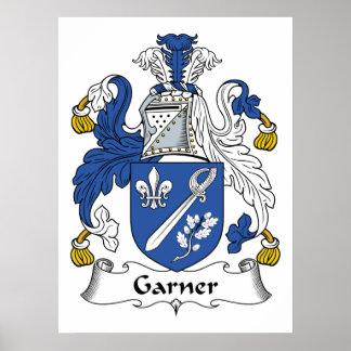 Escudo de la familia del Garner Póster