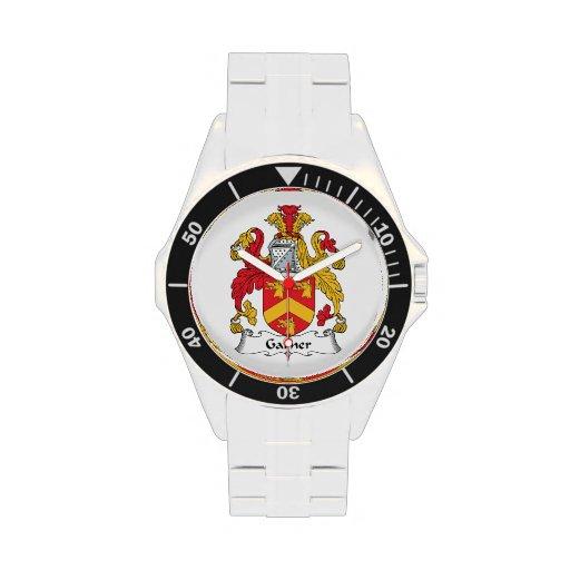 Escudo de la familia del Garner Reloj De Mano