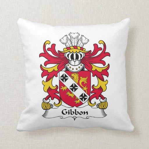 Escudo de la familia del Gibbon Cojín