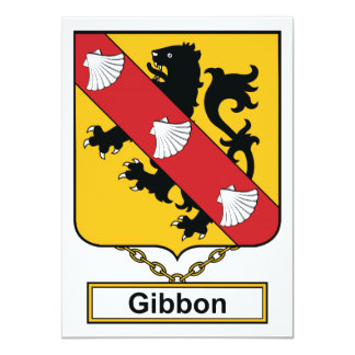Escudo de la familia del Gibbon Anuncios Personalizados