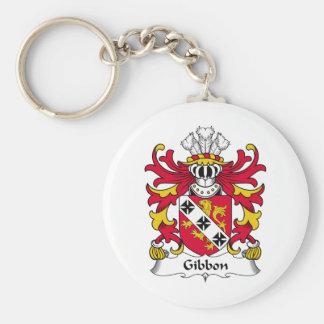 Escudo de la familia del Gibbon Llavero Redondo Tipo Pin