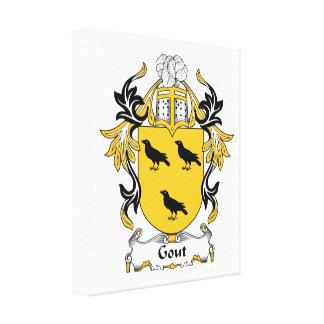 Escudo de la familia del Gout Lona Envuelta Para Galerias