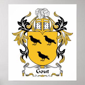 Escudo de la familia del Gout Posters