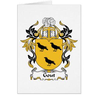Escudo de la familia del Gout Tarjetón
