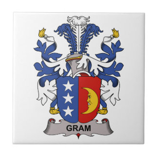 Escudo de la familia del gramo azulejo cuadrado pequeño