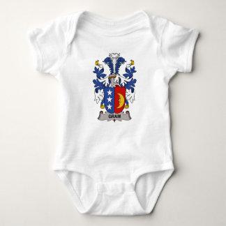 Escudo de la familia del gramo body para bebé