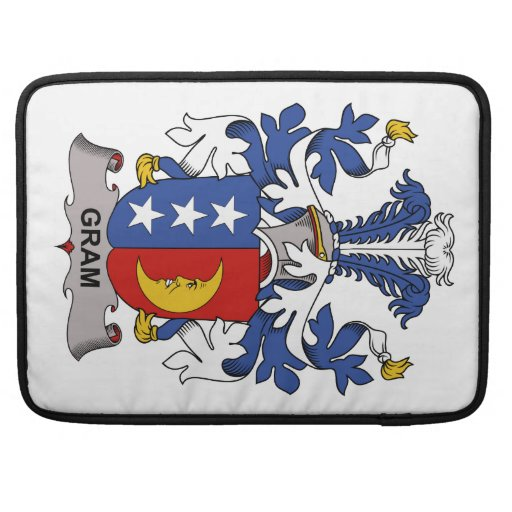 Escudo de la familia del gramo funda para macbooks