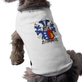 Escudo de la familia del gramo ropa de mascota