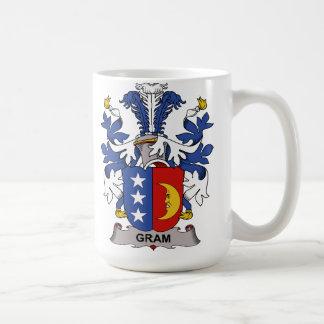 Escudo de la familia del gramo taza de café