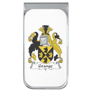 Escudo de la familia del granero clip para billetes plateado