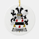 Escudo de la familia del granjero ornamento de reyes magos